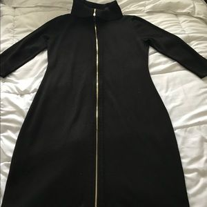Ellen Tracy Zip Up Sweater Dress Size M